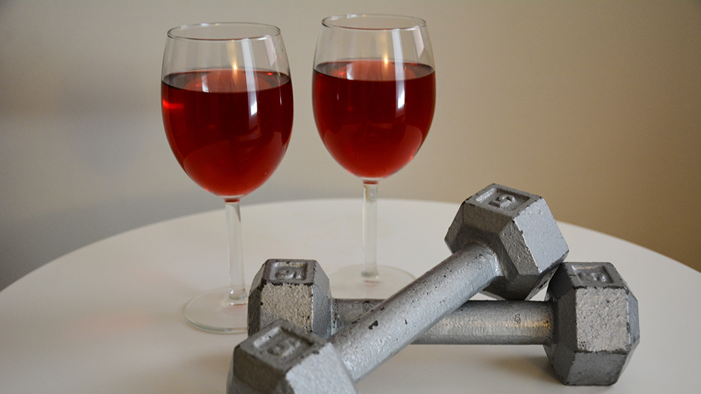 Don't wine, hit the gym: Wine not a gym replacement, U of A researchers say
