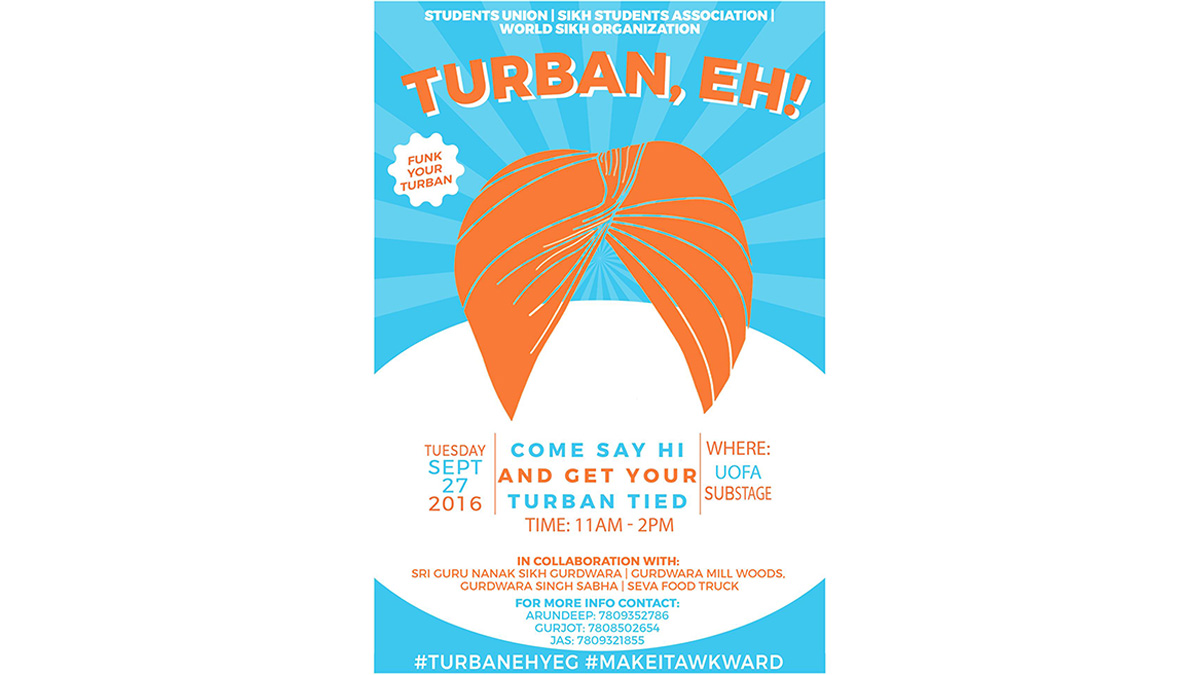 """Turban, Eh?"" event to tie students' turbans and educate on Sikhism"