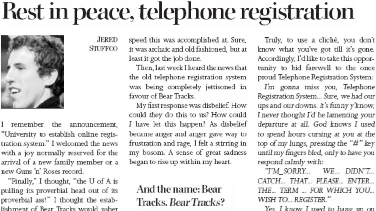 "Throwback: ""Rest in peace, telephone registration"""