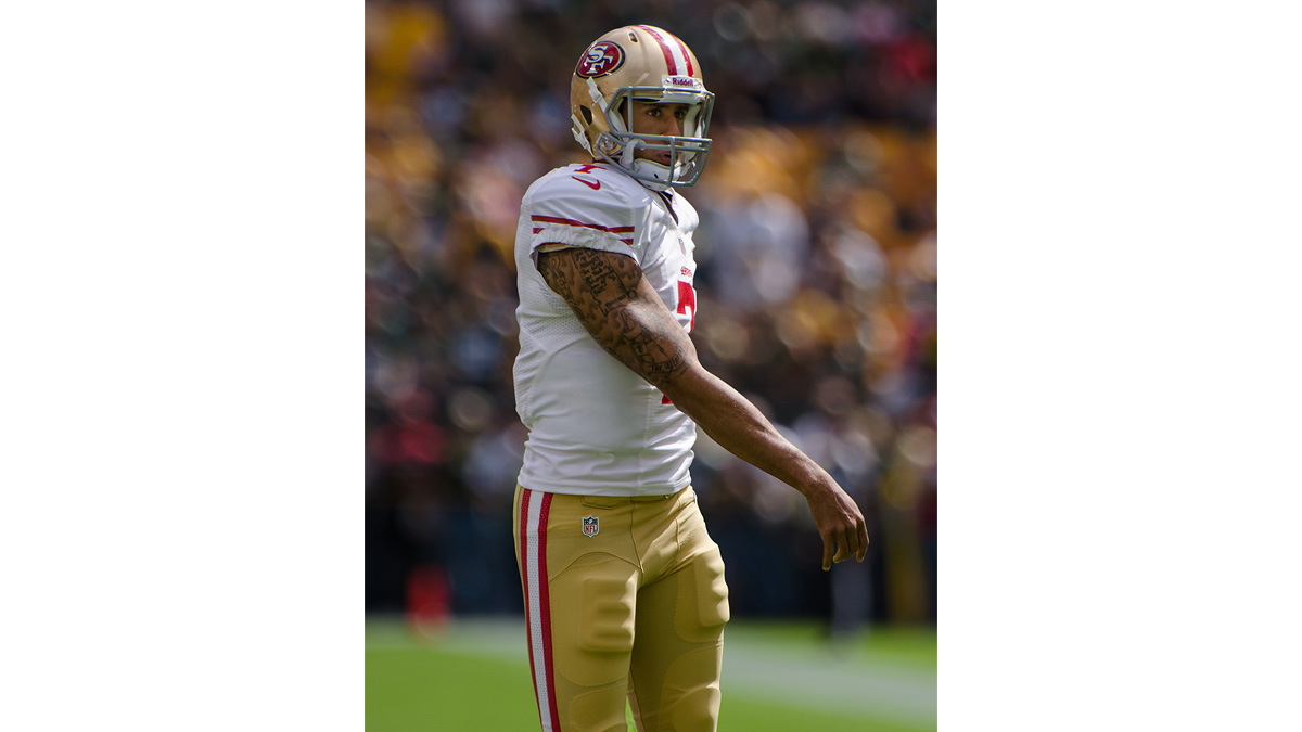 "Photo of Colin Kaepernick and ""the right way to protest"""