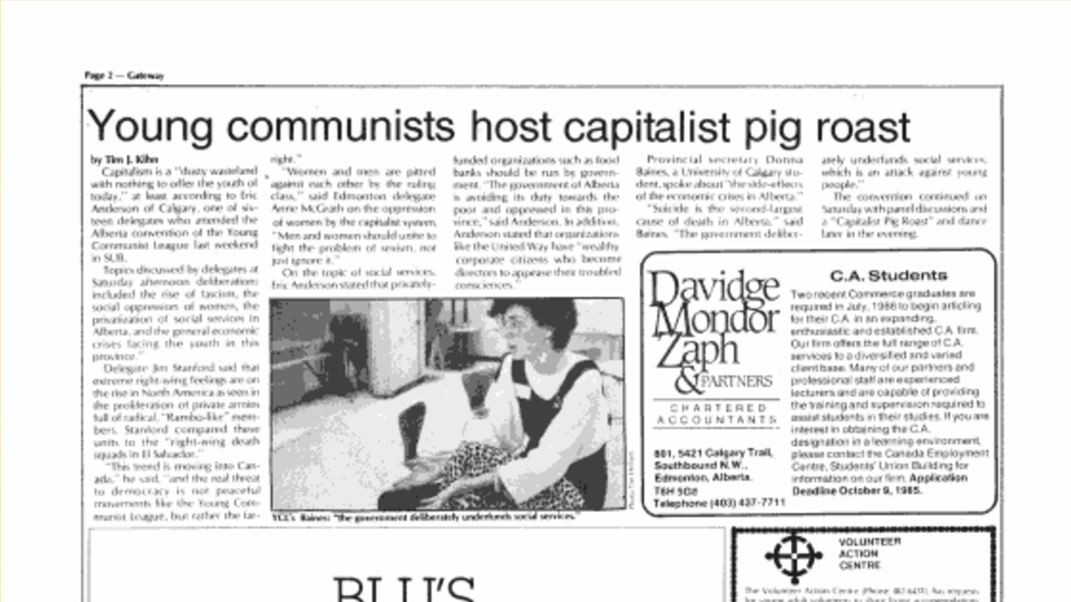 "Throwback: ""Young Communists host Capitalist pig roast"""