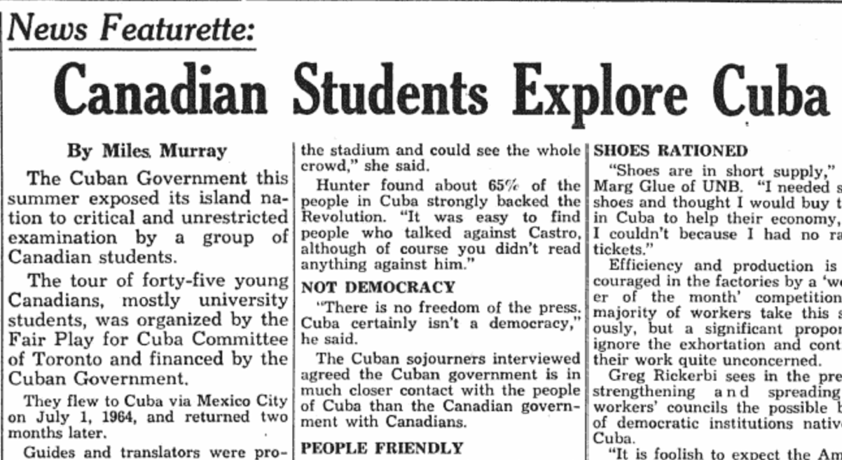 Throwback: Canadian Students Explore Cuba