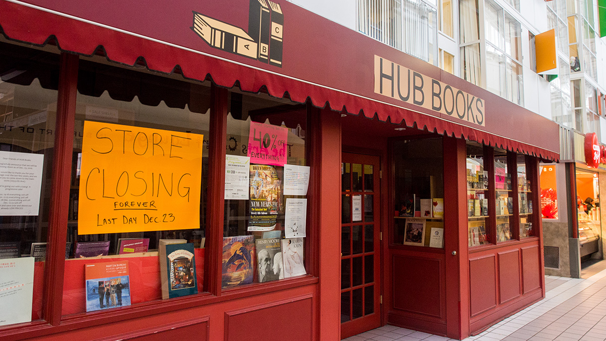 Photo of HUB Mall bookstore to close on December 23