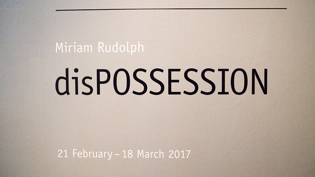 FAB Gallery: Abstracting place in Miriam Rudolph's disPOSSESSION