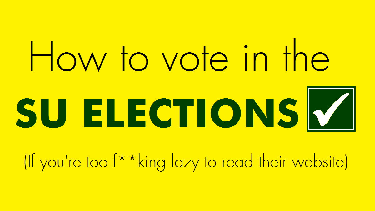 All a lazy student has to know about voting in the SU Election
