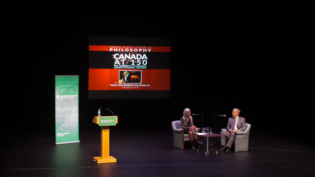 Photo of Supreme Court Chief Justice and U of A alumna Beverley McLachlin gives talk on diversity