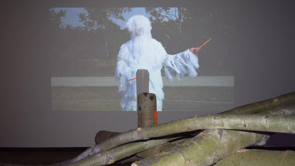 Photo of 'knock on wood' at Latitude 53's recent exhibit