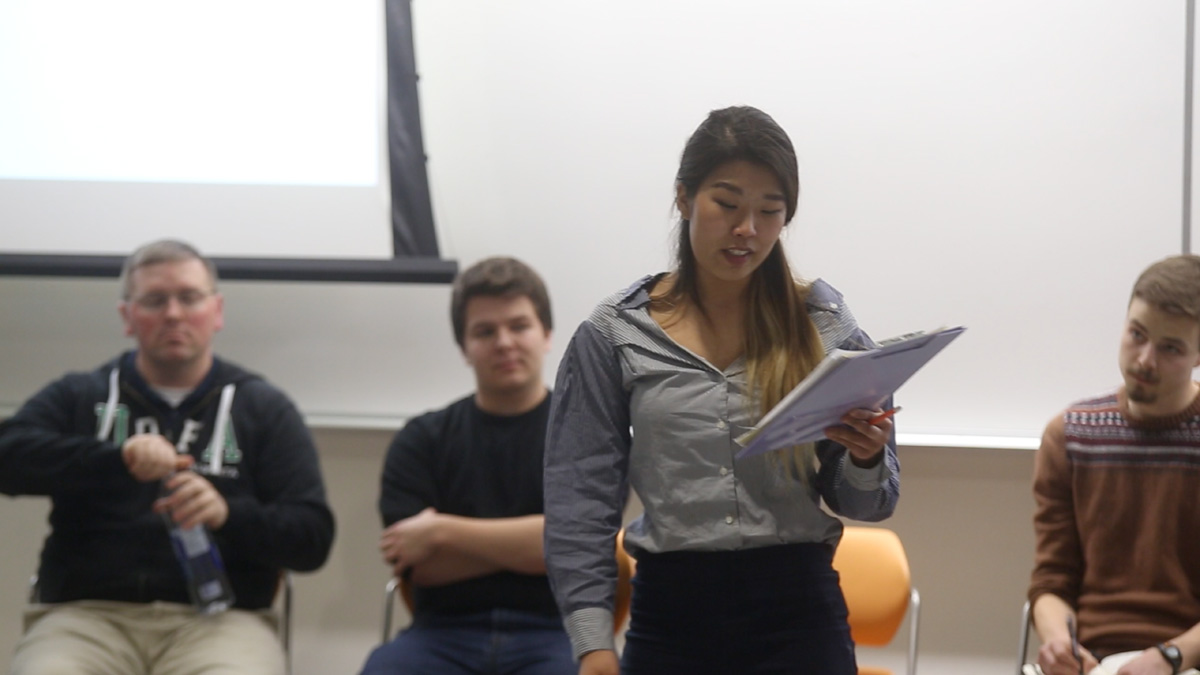 Photo of Kim stood out among strong student life candidates at ISA forum