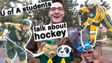 Photo of U of A students' thoughts on hockey
