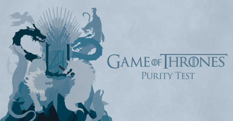 This year's Purity Test is Game of Thrones themed.