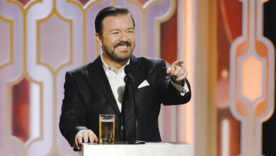 Photo of Marble Pedestal: Ricky Gervais' Golden Globes monologue