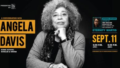 Photo of Students' Union hosts Angela Davis and online concert